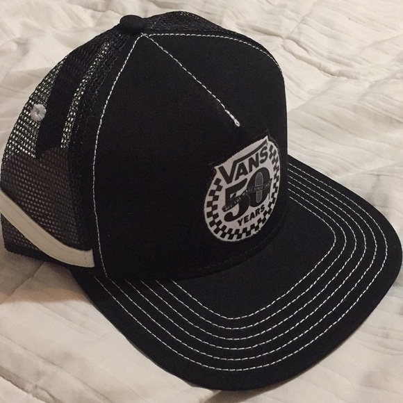 480df503b9dac Vans Accessories | 50th Anniversary Sidestripe Hat 19662016 | Poshmark